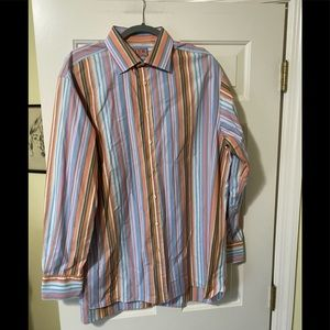Thomas Pink designer colorful dress shirt 17 1/2